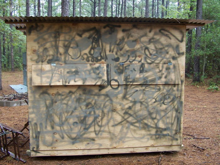 Homemade Hunting Ground Blinds