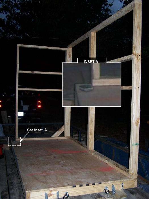 A diy guide on building a box blind hunting blind deer for Inside deer blind ideas