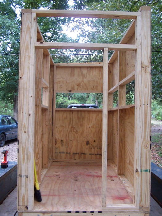 A diy guide on building a box blind hunting blind deer blind putting on the skin of deer box blind solutioingenieria Image collections
